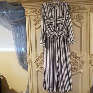 Chicos gaucho striped 2 piece jumpsuit size 3